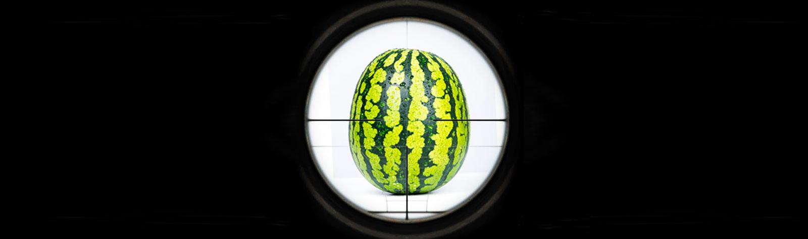 Como disparar a un melón